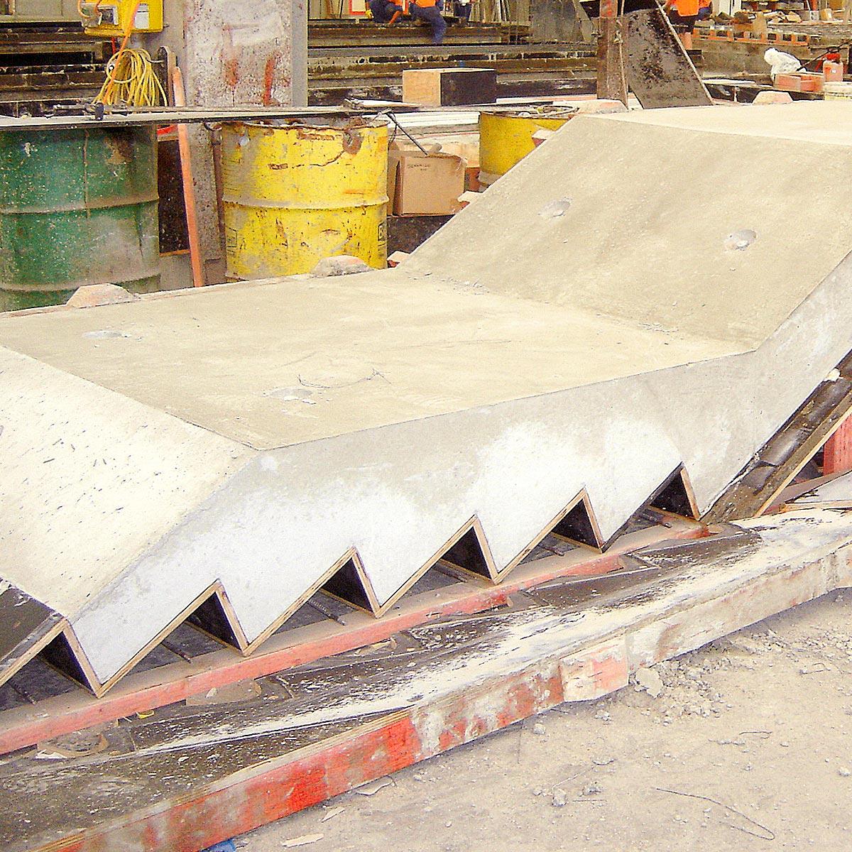concrete stairs-landings